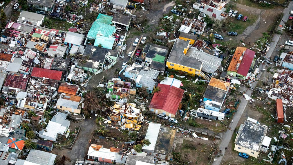 Irma cut a path of devastation across the northern Caribbean, leaving thousands homeless after destroying buildings and uprooting trees. (AP)