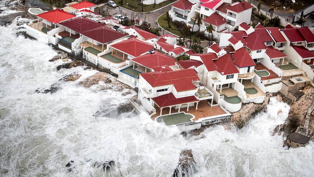 A few of the homes that remained intact in the aftermath of Hurricane Irma, in St. Maarten. (AP)
