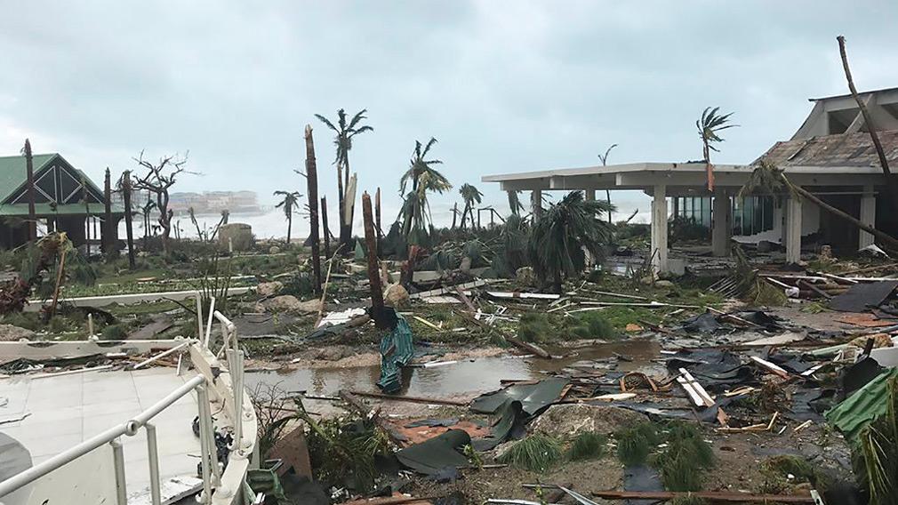 The devastation in St. Martin.  (AP)