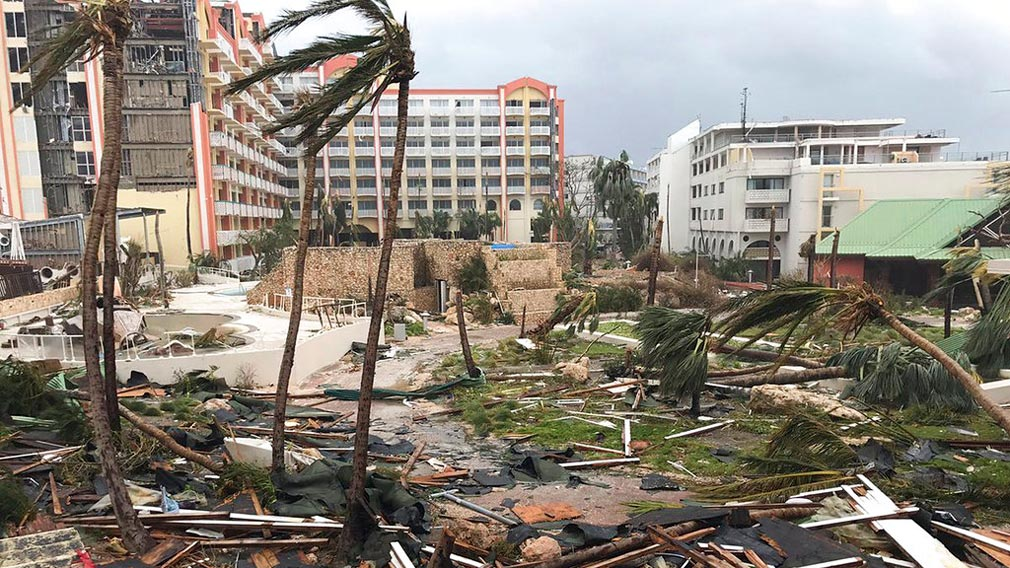 Significant damage was reported on the island known as St. Martin. (AP)