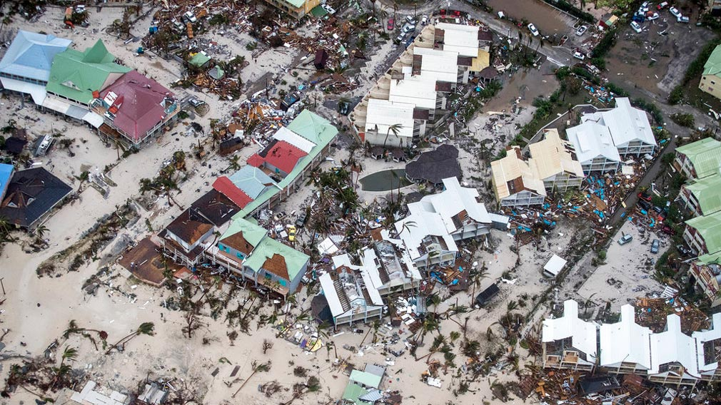 Storm damage in the aftermath of Hurricane Irma, in St. Maarten. (AP)