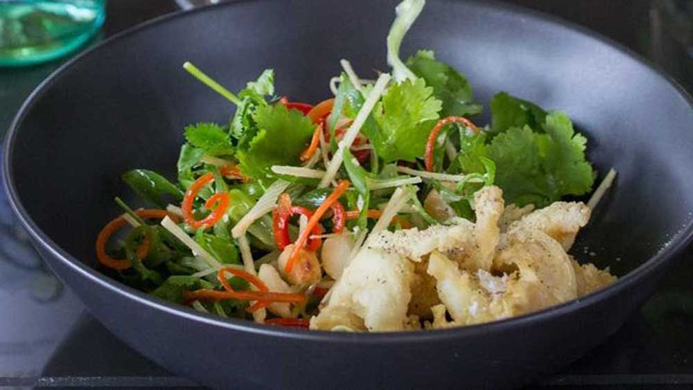 "Recipe: <a href=""http://kitchen.nine.com.au/2017/08/04/15/01/salt-and-pepper-balmain-bugs-with-coriander-macadamia-and-ginger-salad"" target=""_top"">Salt and pepper Balmain bugs with coriander, macadamia and ginger salad</a>"