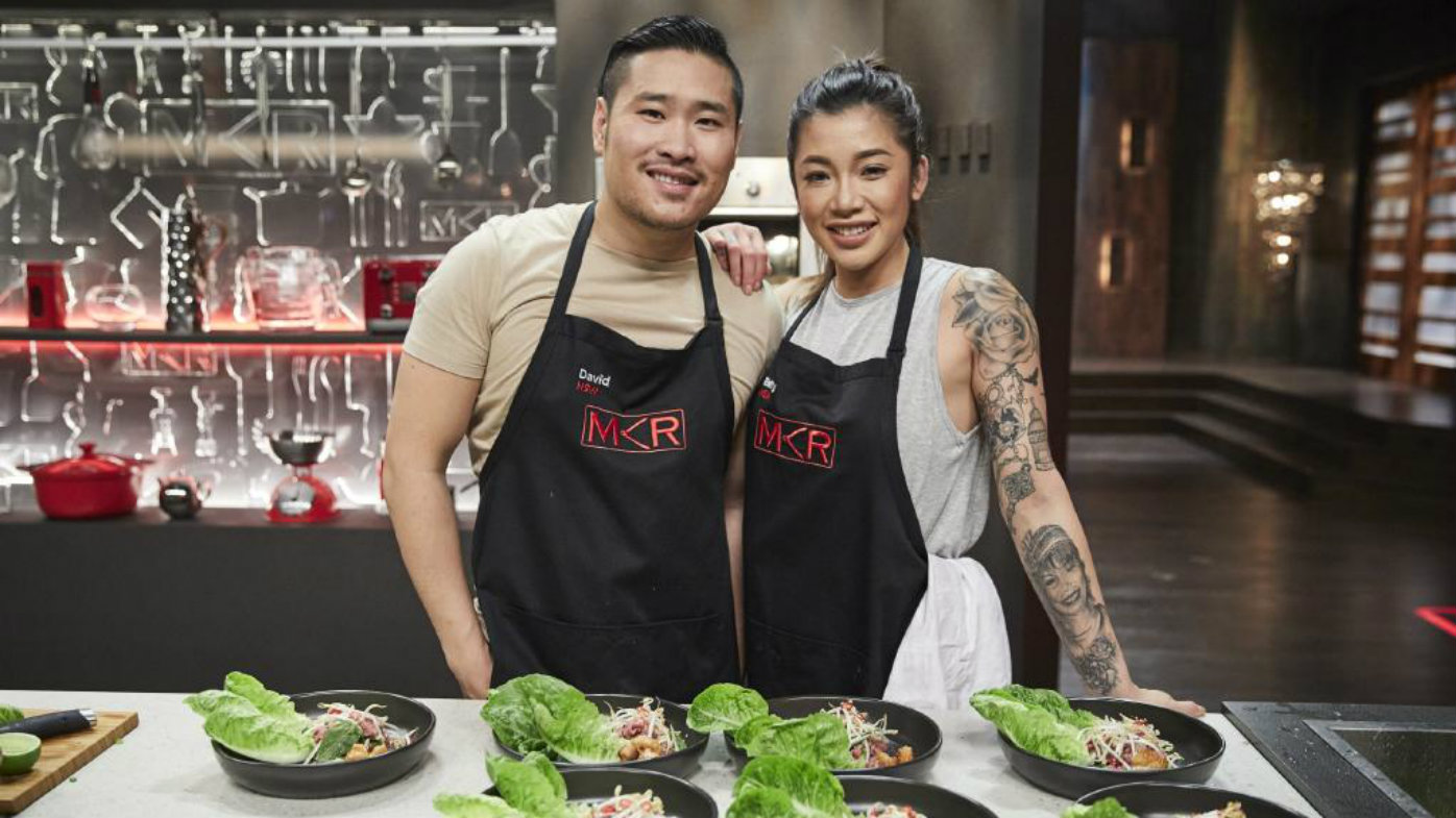 David Vu with friend Betty Banks on My Kitchen Rules.