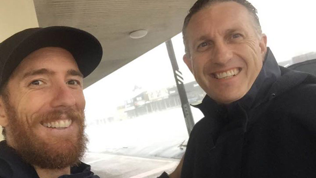 Tom Pawson and Darren Curtis in Bowen. (Image: 9NEWS)