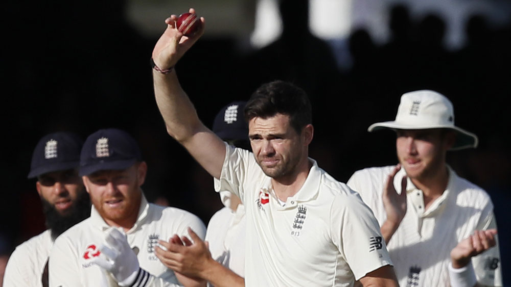 James Anderson claimed his 500th Test wicket. (AAP)