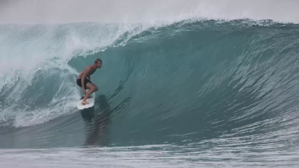 Abe McGrath believes he was atacked by a great white shark.