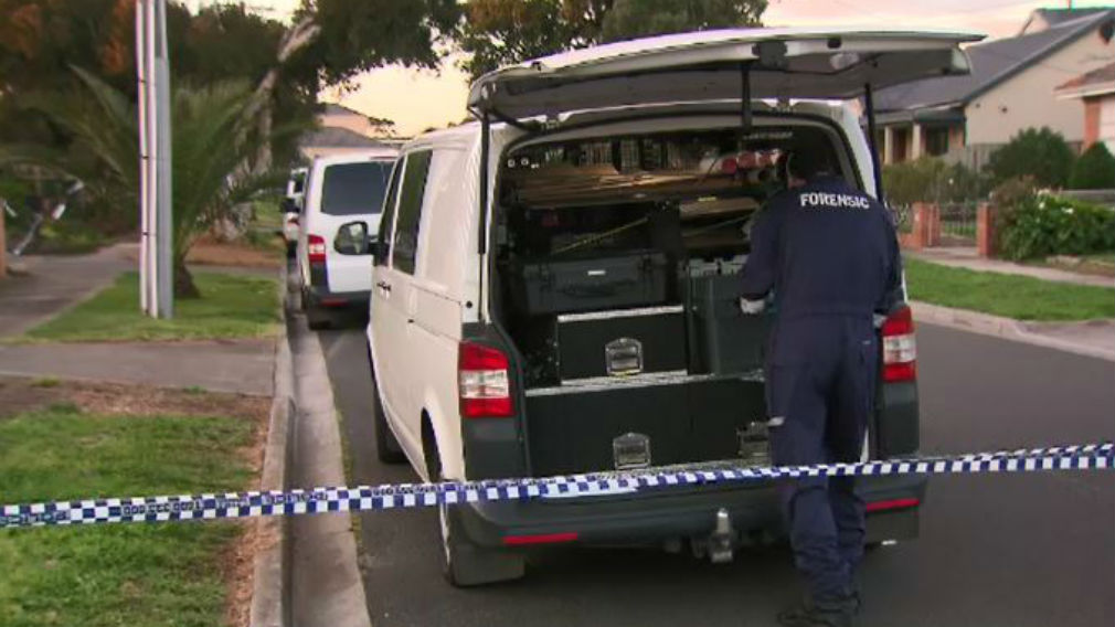 Forensics and police were at the home for the day yesterday. (9NEWS)