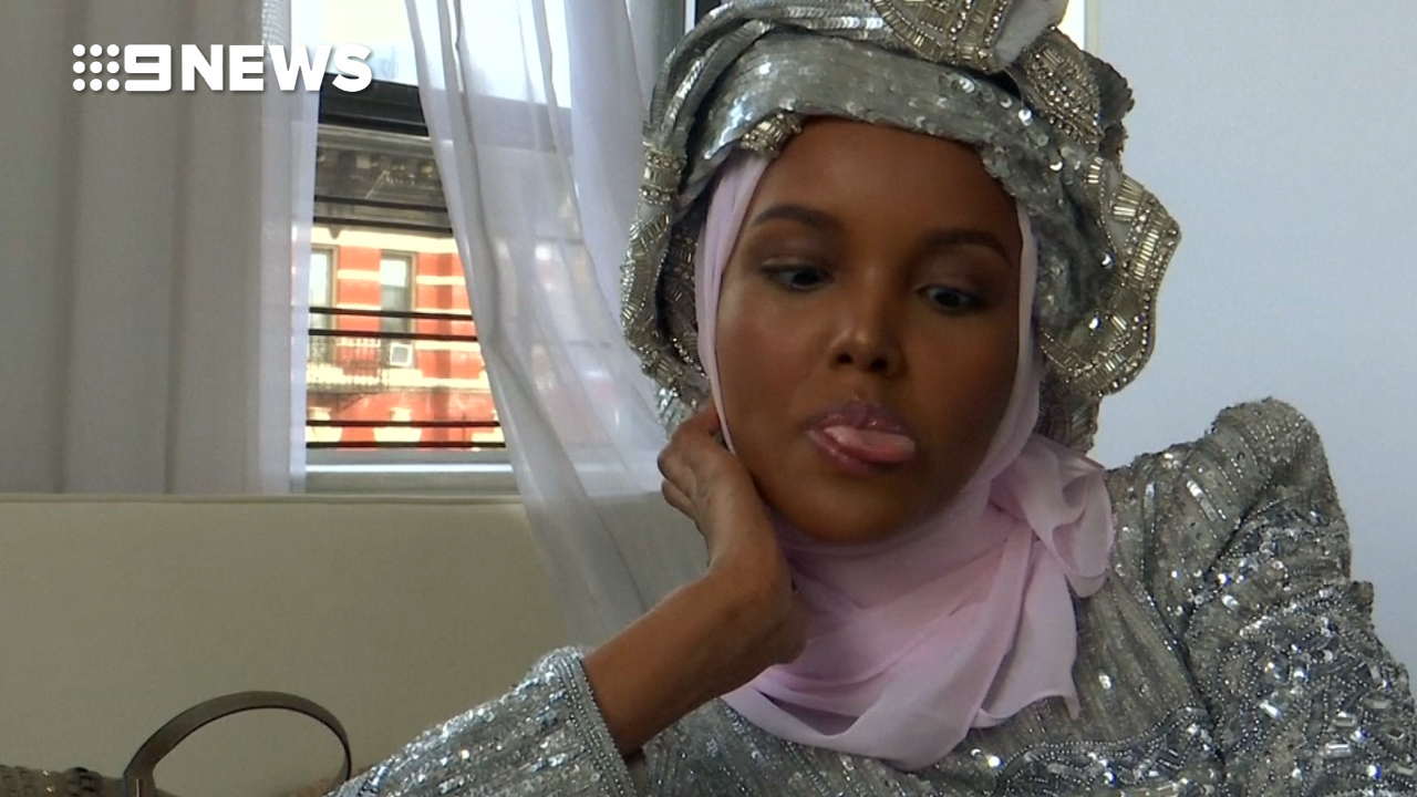Ms Aden denies she was forced to wear her hijab.  (Reuters)