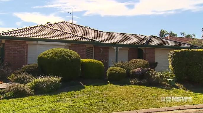 The home of Robert Whitwell, where he was stabbed. (9NEWS)