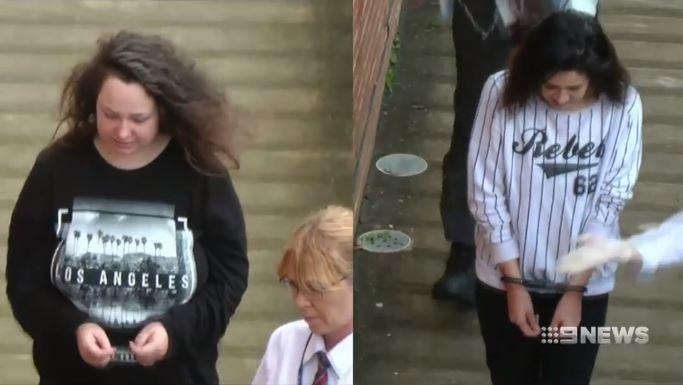 Brittney Dwyer (left) and Bernadaette Burns after their arrest. (9NEWS)