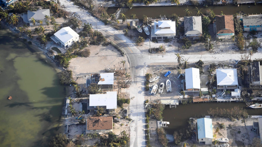 A view of the Florida Keys during the aftermath of Hurricane Irma. (AAP)