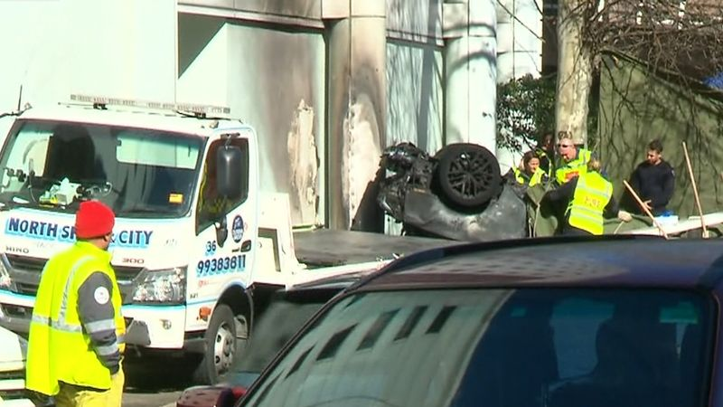 Police continue to work to determine the cause of the crash. (9NEWS)