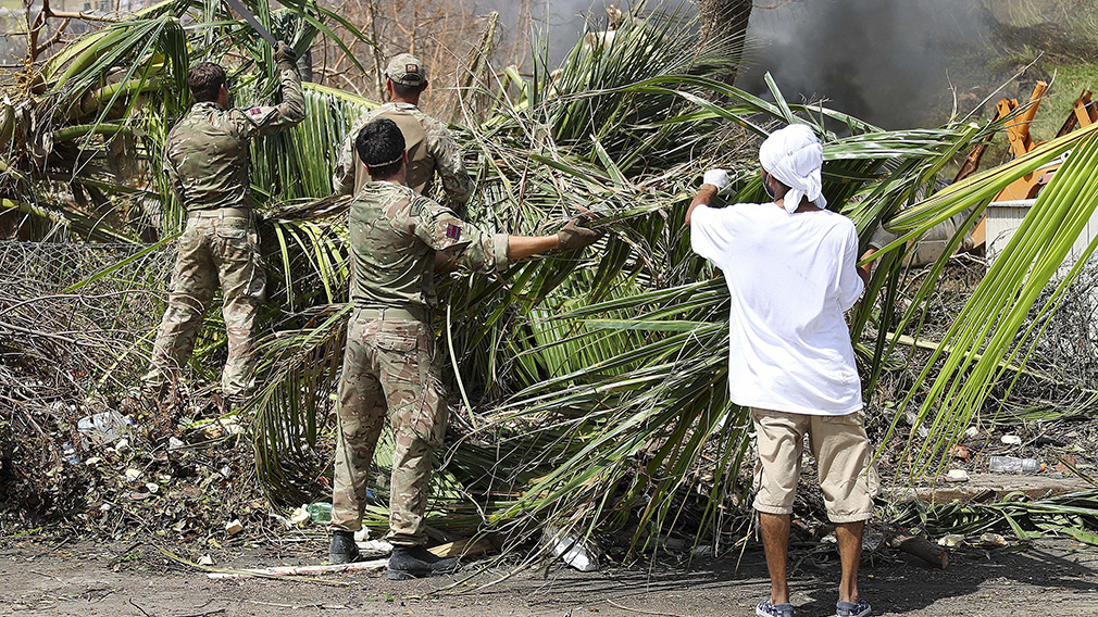 Army Commandos deliver aid and provide support to British Virgin Islands communities on the island of Tortola. (AAP)
