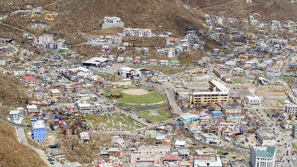 Some of the damage to The British Virgin Islands. (AAP)