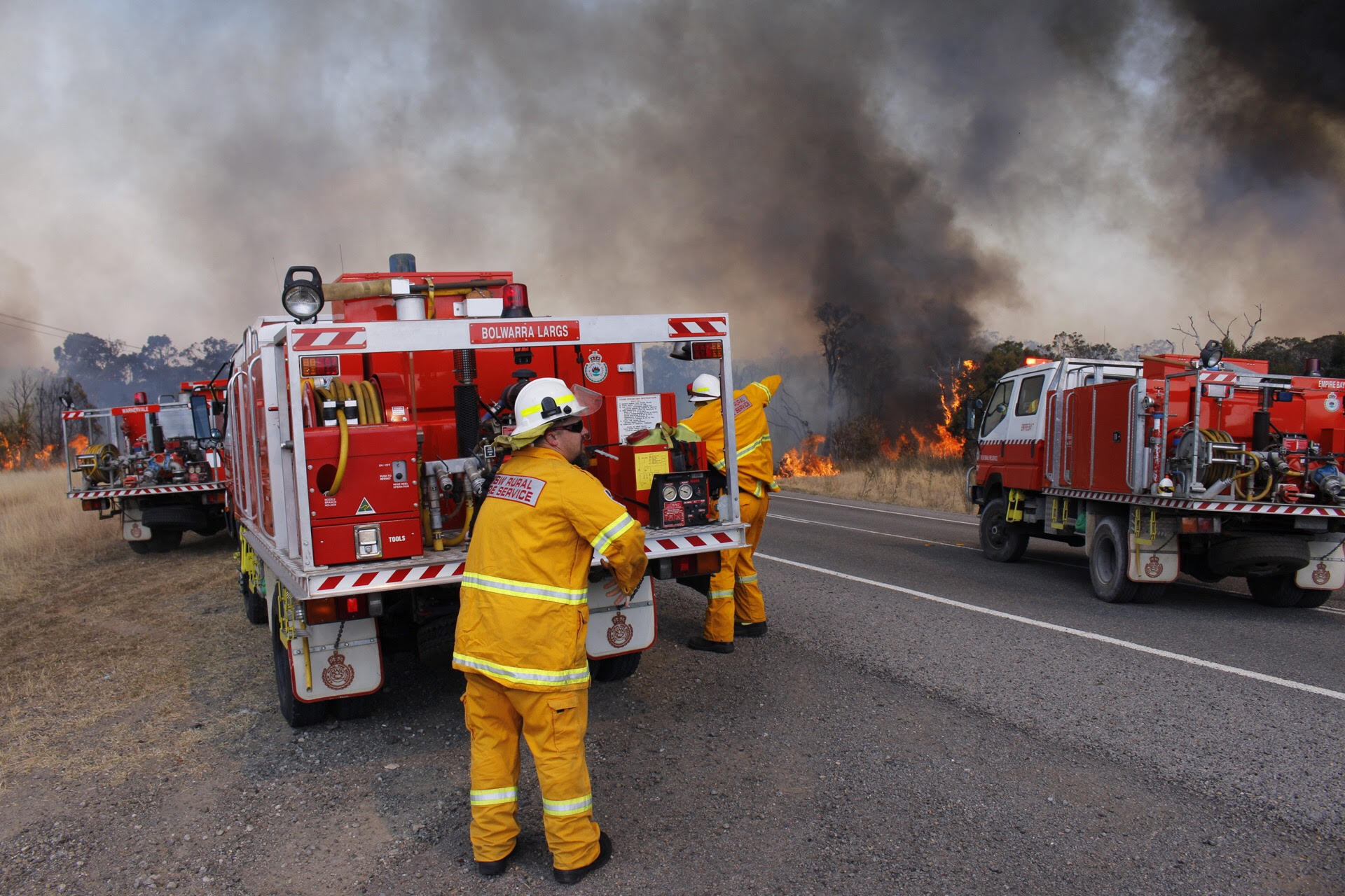 Crews are working to mop up spot fires in the area. (AAP)