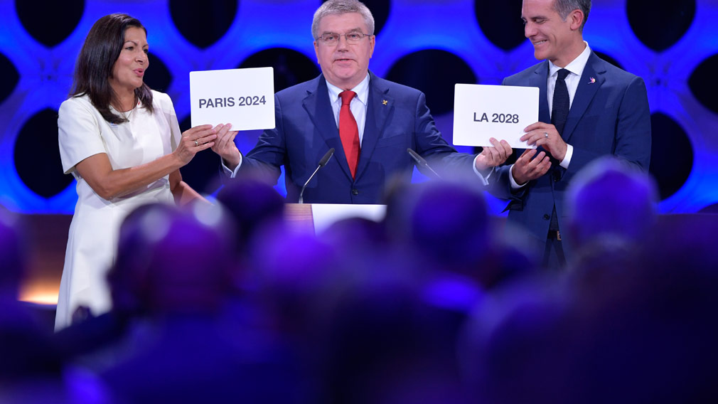 Paris and Los Angeles officially named as hosts of 2024, 2028 Olympic Games