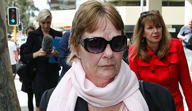 Bridget Shewring, the daughter of Shirley Finn, arrives at the WA Coroner's Court in Perth (Photo: AAP).