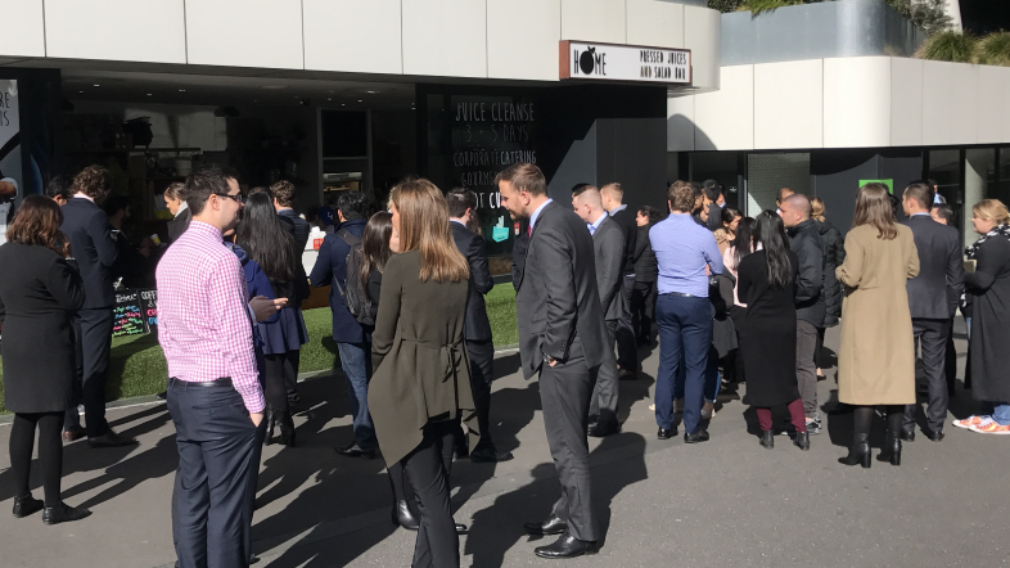 The cafe handed out nearly 1000 free coffees today. (Sean Davidson / 9NEWS)