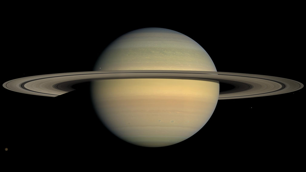 An image of Saturn taken from the Cassini spacecraft. (NASA)