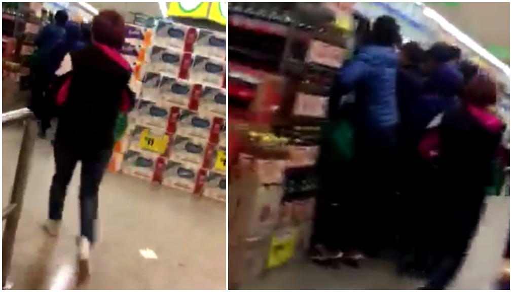 Shoppers sprint through Woolies to strip shelves of baby formula
