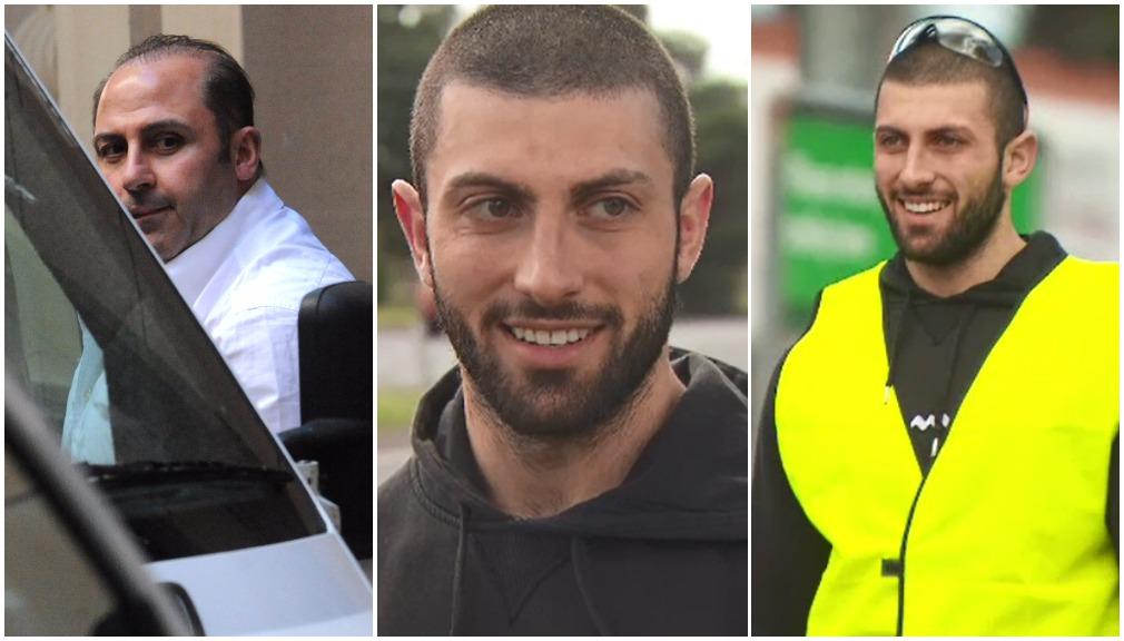 Tony Mokbel, left, Phil Mokbel, centre and Jamil Mokbel, right. (9NEWS)