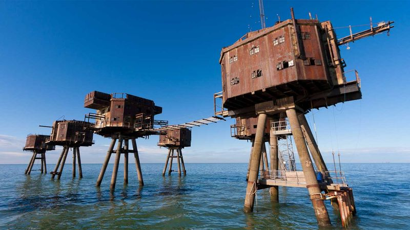 The abandoned WWII maritime forts dissolving into the ocean