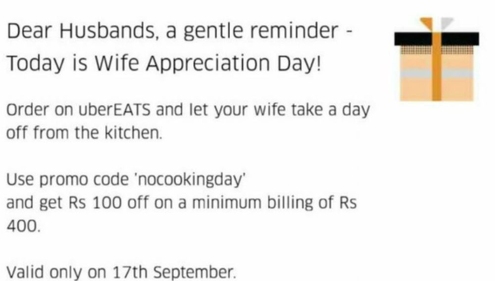 Uber apologises for Wife Appreciation Day promotion gaffe in Bangalore