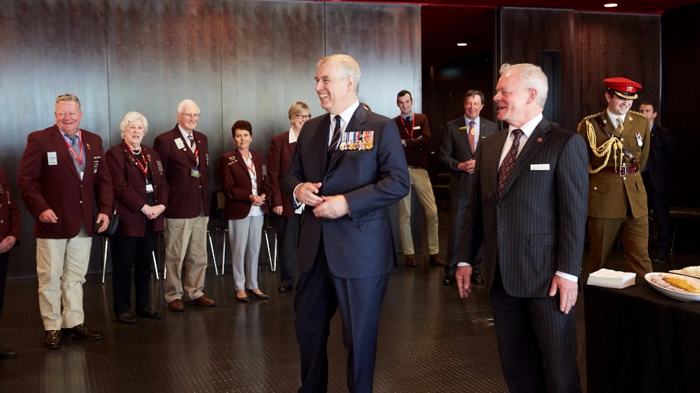 Prince Andrew pays a special visit to Melbourne