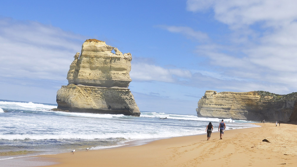 Gibson Steps in the Port Campbell National Park along the Great Ocean Road in Melbourne, Victoria. (AAP)