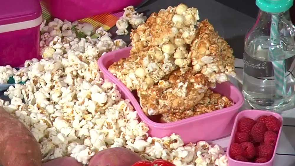 School holiday popcorn slice recipe The Healthy Mummy on Today show