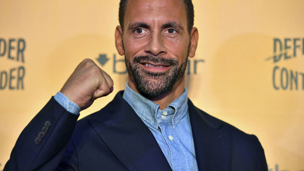 Ferdinand in boxing pursuit. (AAP)