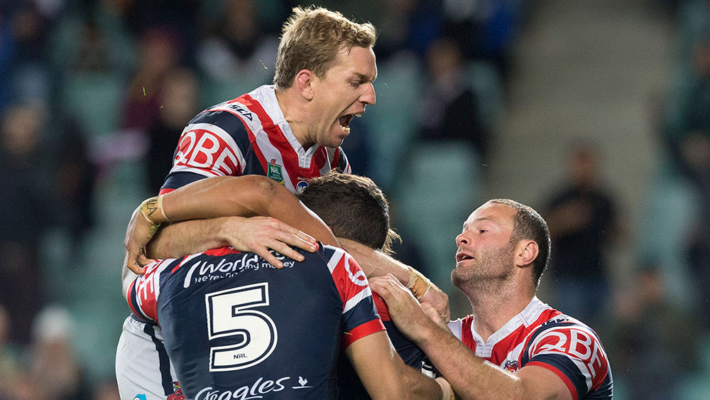 The Roosters play the Cowboys for a spot in the grand final. (AAP)