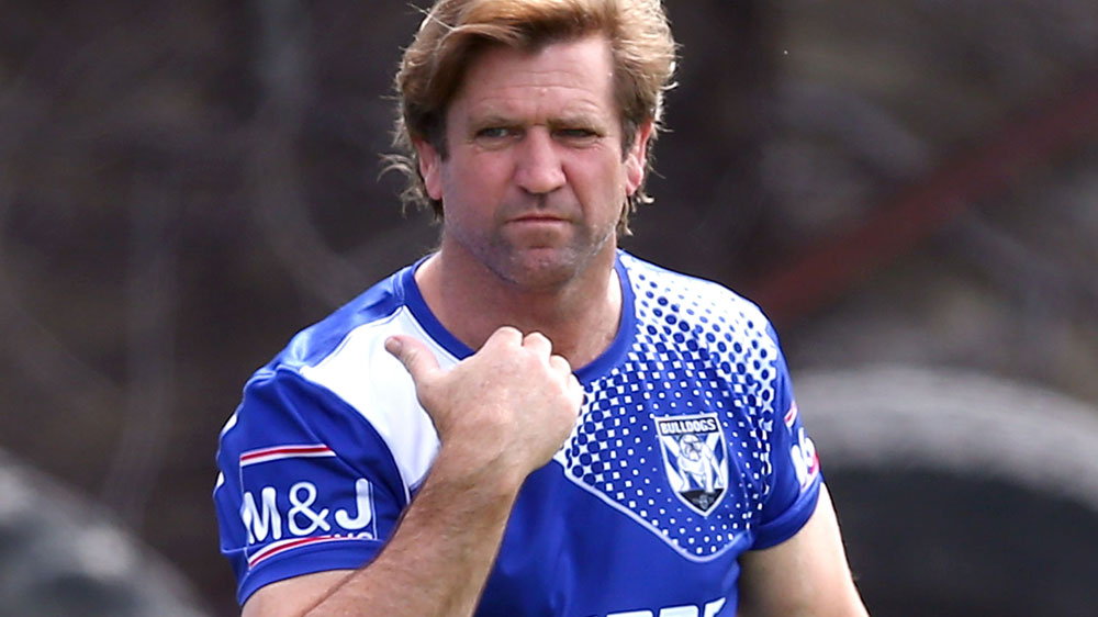 Phil Gould says Des Hasler wasn't sacked for not understanding the Bulldogs' culture. (AAP)