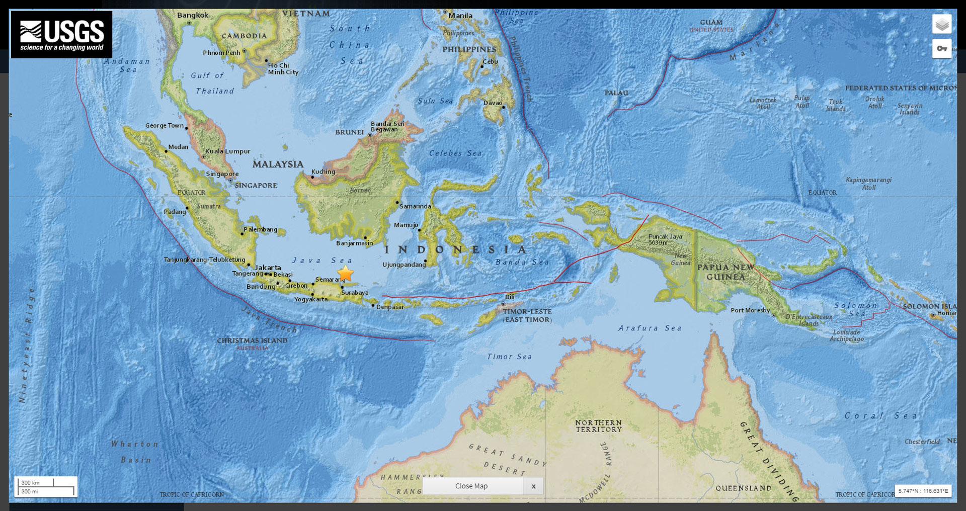 Magnitude 5.7 earthquake hits Indonesia