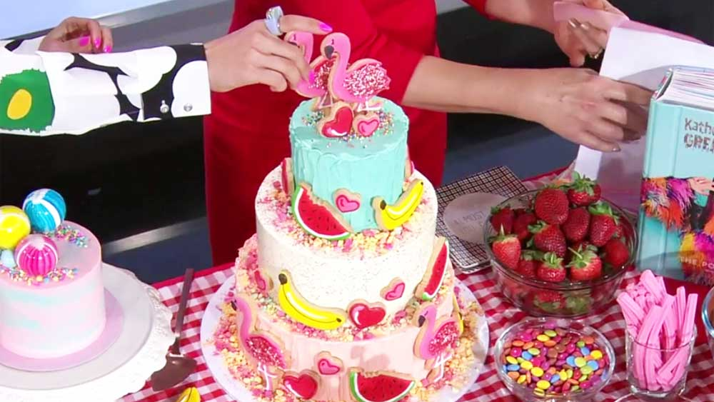 Katherine Sabbath's Palm Springs cake on the Today show