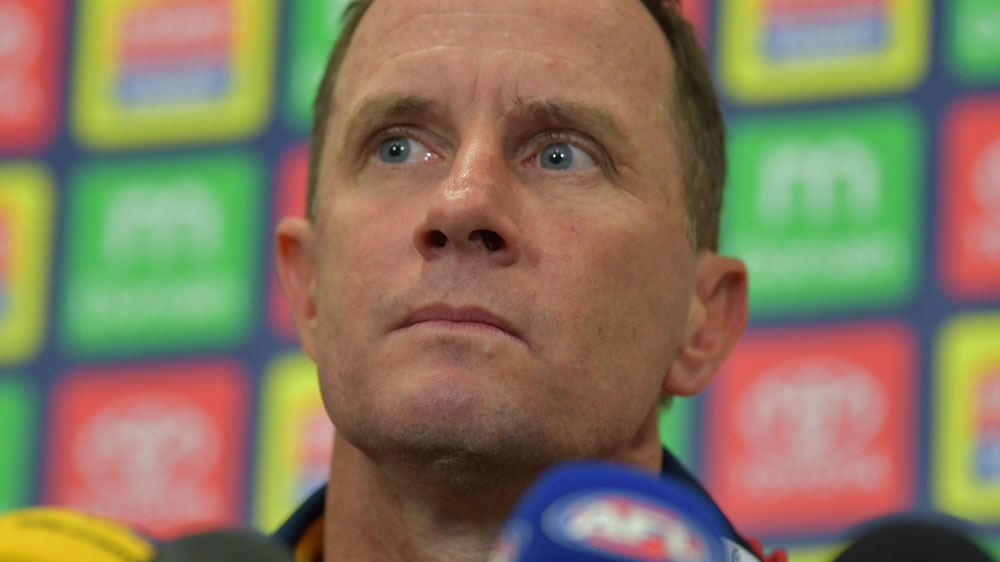Adelaide Crows coach Don Pyke denies disrespecting the national anthem against GWS.(AAP)