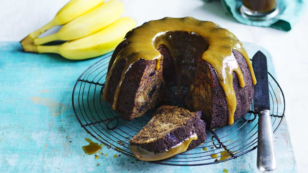 Sticky date and banana cake recipe