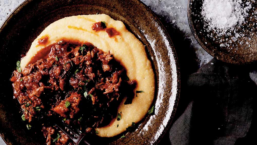 "Recipe: <a href=""http://kitchen.nine.com.au/2017/09/22/14/29/sticky-oxtail-stew-with-creamy-polenta"" target=""_top"">Sticky oxtail stew with creamy polenta</a>"