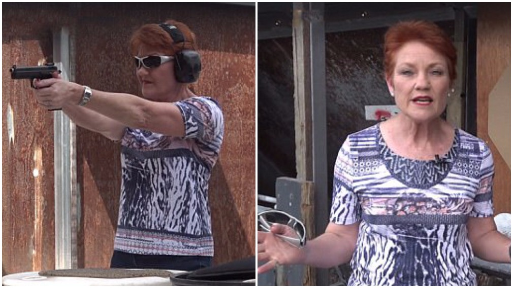 'Don't mess with me': Hanson stages visit to shooting range