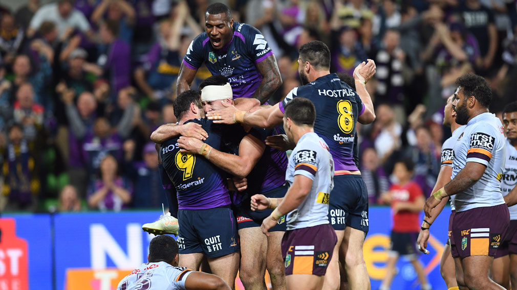 Melbourne smash Broncos to storm into Grand Final