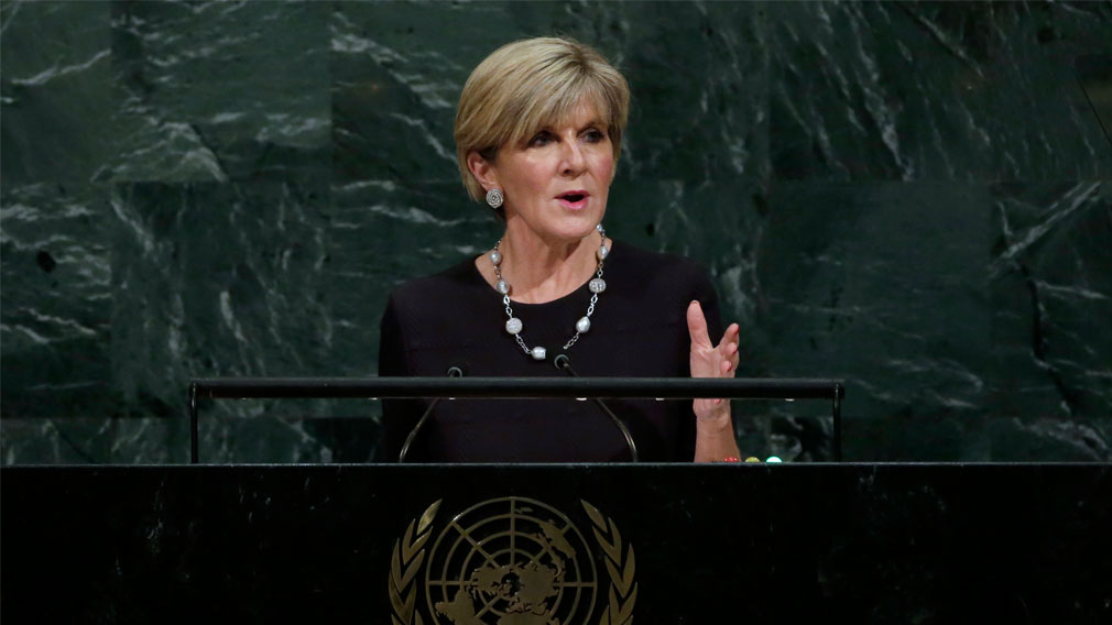 Bishop scathing on North Korea in UN speech
