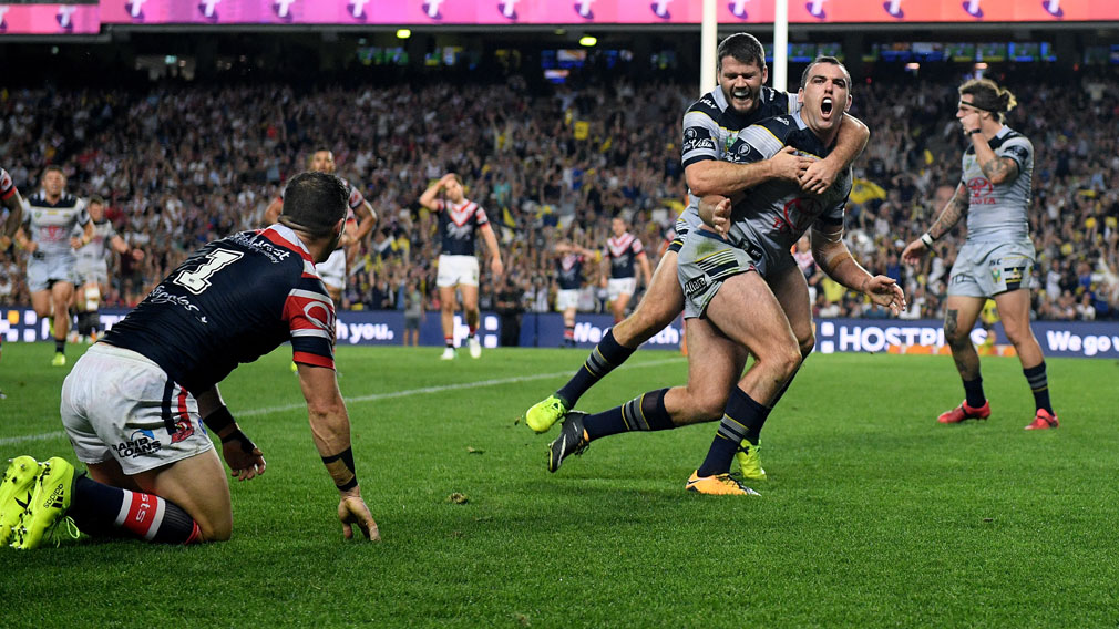 Cowboys shock Roosters to qualify for Grand Final