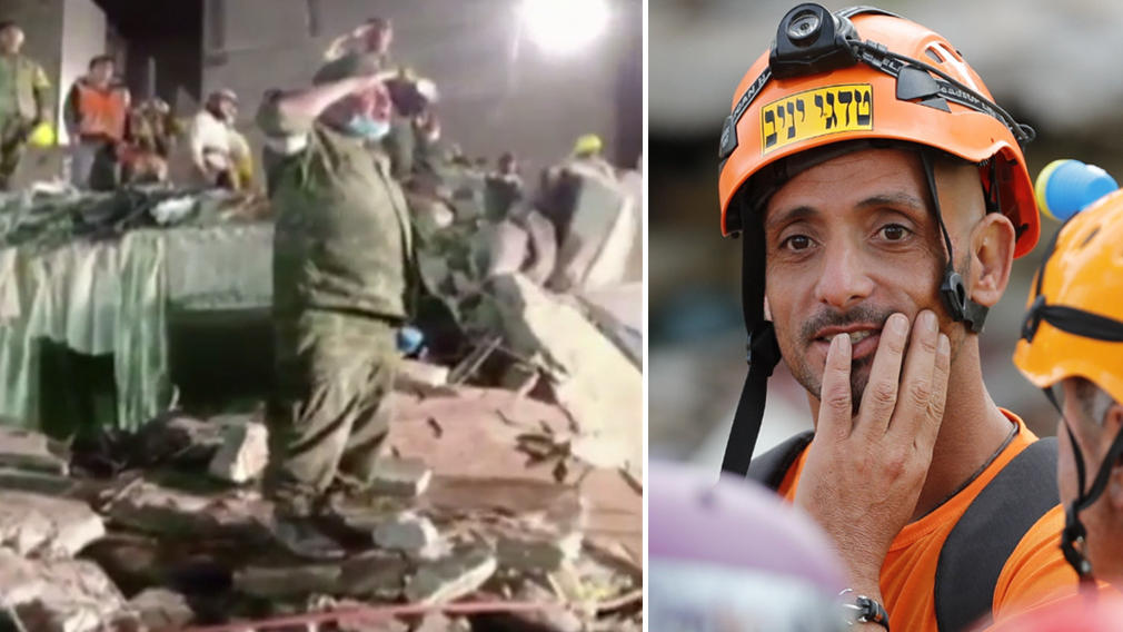 Rescuers pause to sing anthem in Mexico earthquake rubble