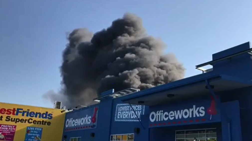 Crime scene declared after massive commercial fire sparks evacuations in Brisbane's north
