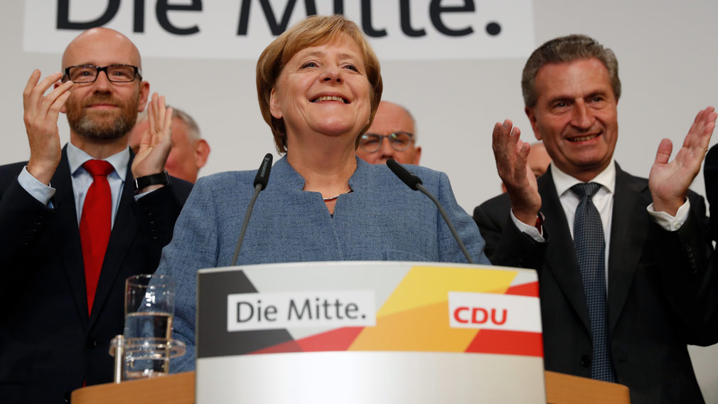 Angela Merkel has won her fourth term as German's chancellor. (AFP)