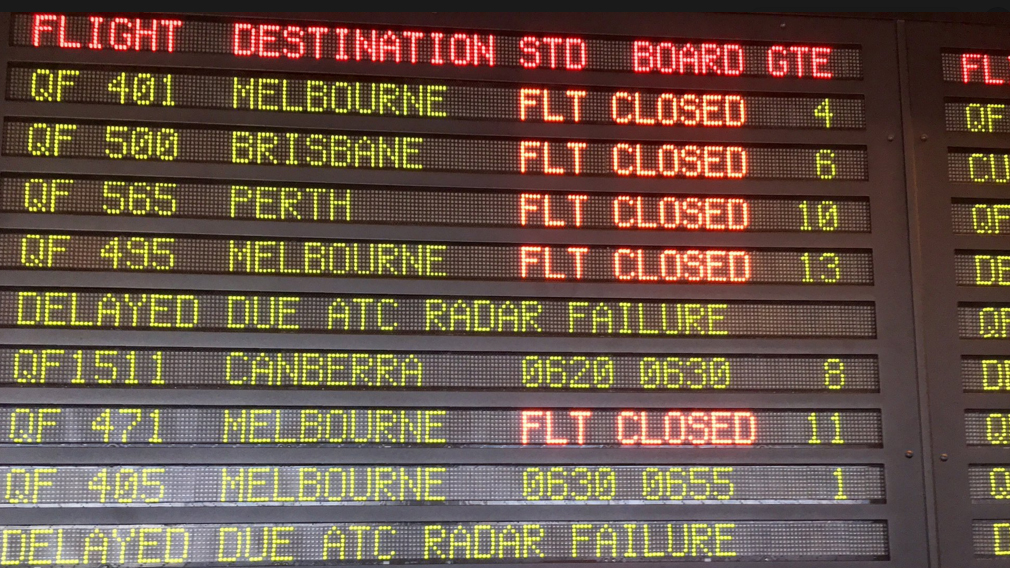 Chaos as ALL flights at Sydney airport are GROUNDED