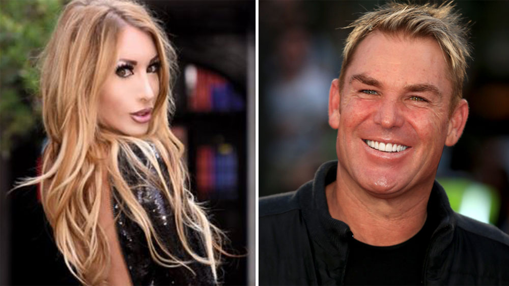 Valerie Fox and Shane Warne.