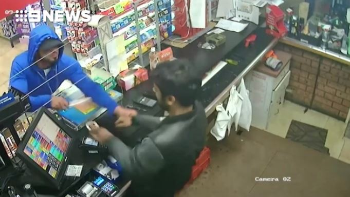 Police search for knife-wielding service station robber