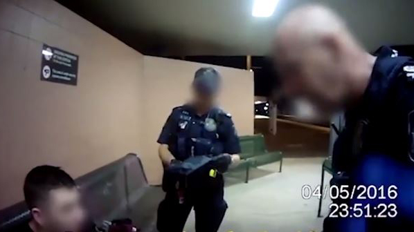 Police officer 'punched handcuffed teen in the face'