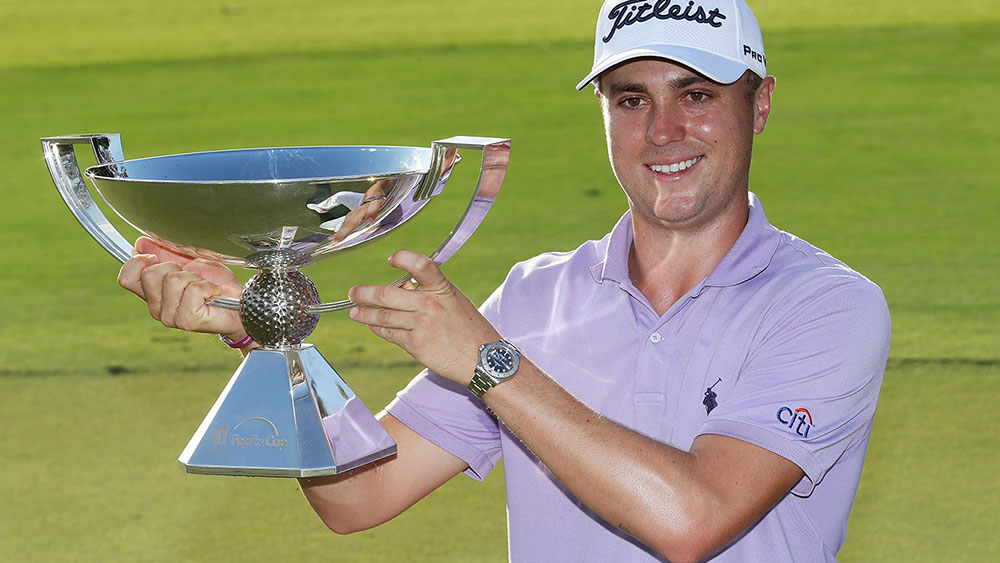 Justin Thomas has taken out the FedEx Cup. (Getty)